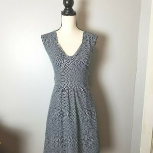 Anthropologie Postcard Fit Flare Dress Size 6